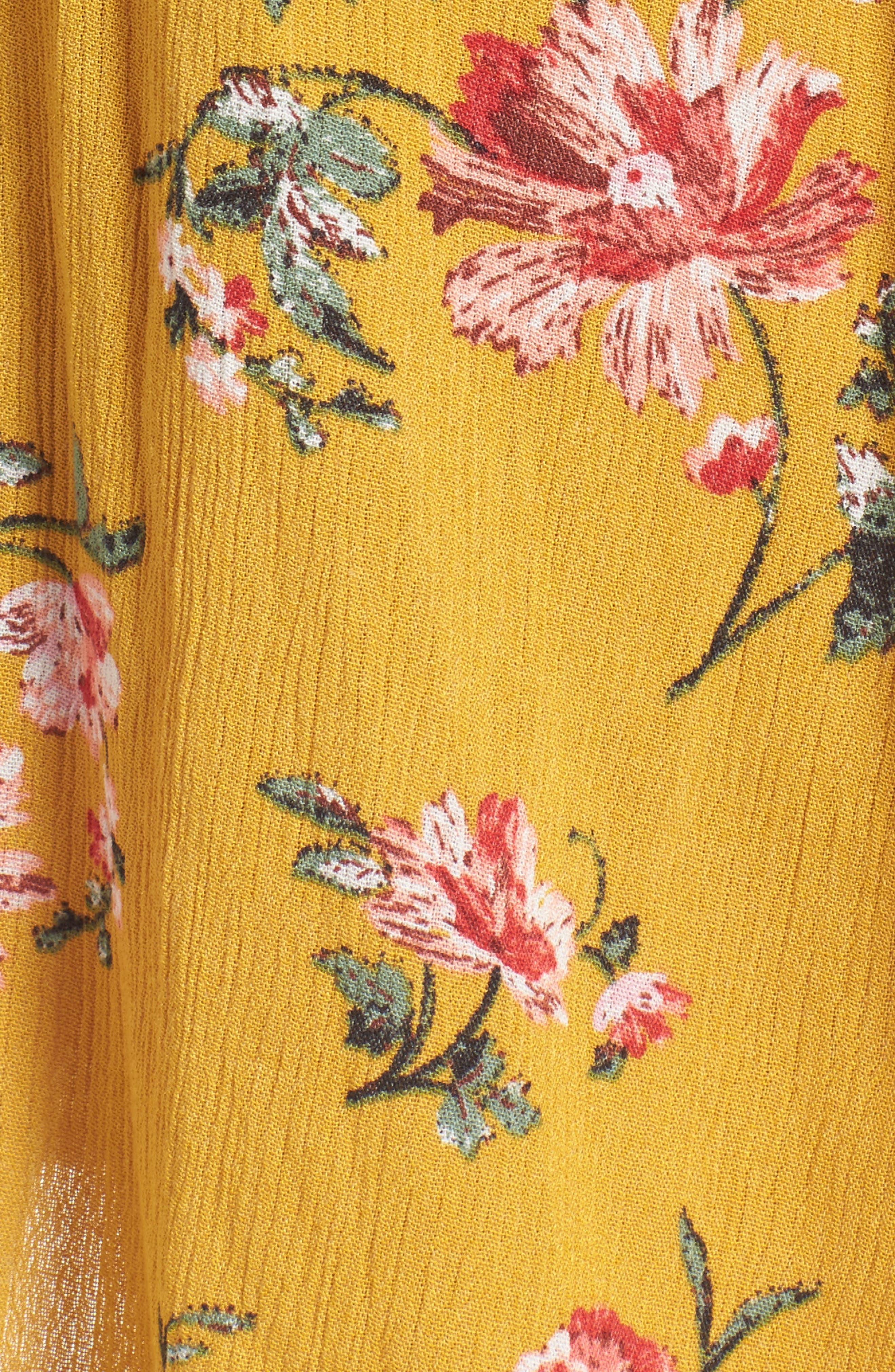 ,                             Floral Gauze Wrap Dress,                             Alternate thumbnail 11, color,                             752