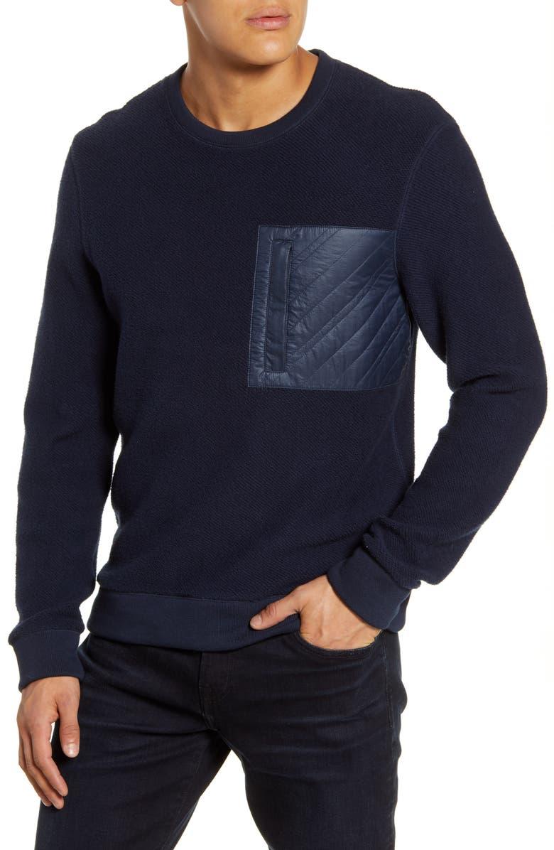 BILLY REID Regular Fit Fleece Pullover, Main, color, NAVY