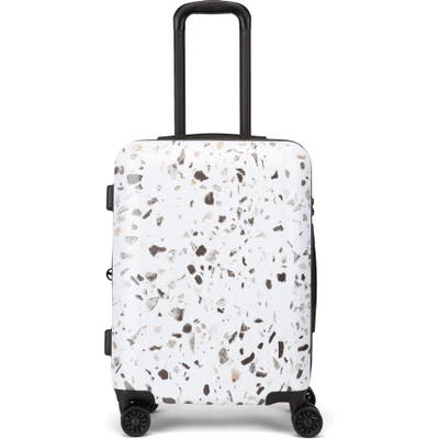 Calpak Terrazzo 22-Inch Hard Shell Spinner Carry-On Suitcase - Brown