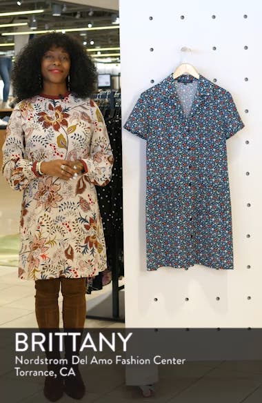 Eden Floral Print Shirtdress, sales video thumbnail