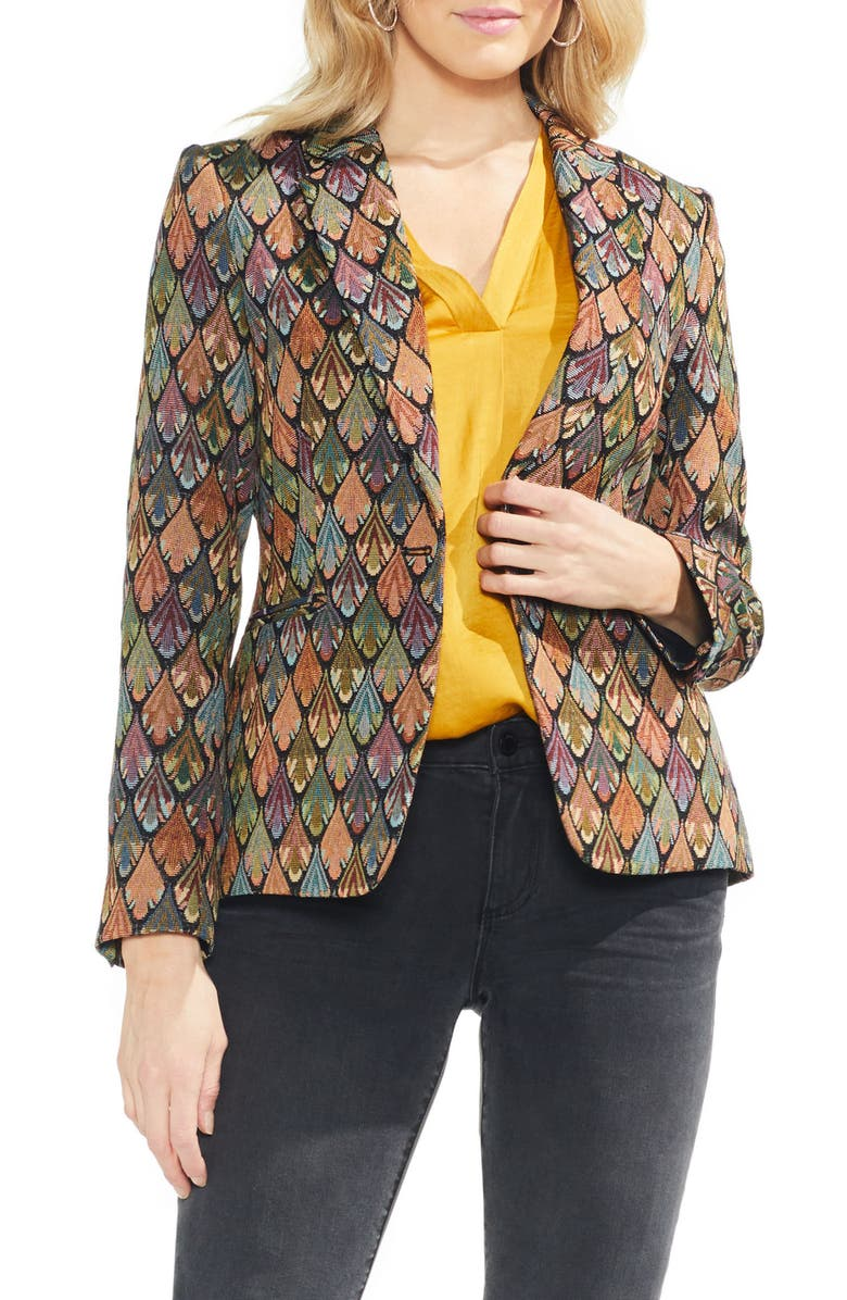 VINCE CAMUTO Tapestry Blazer, Main, color, 006
