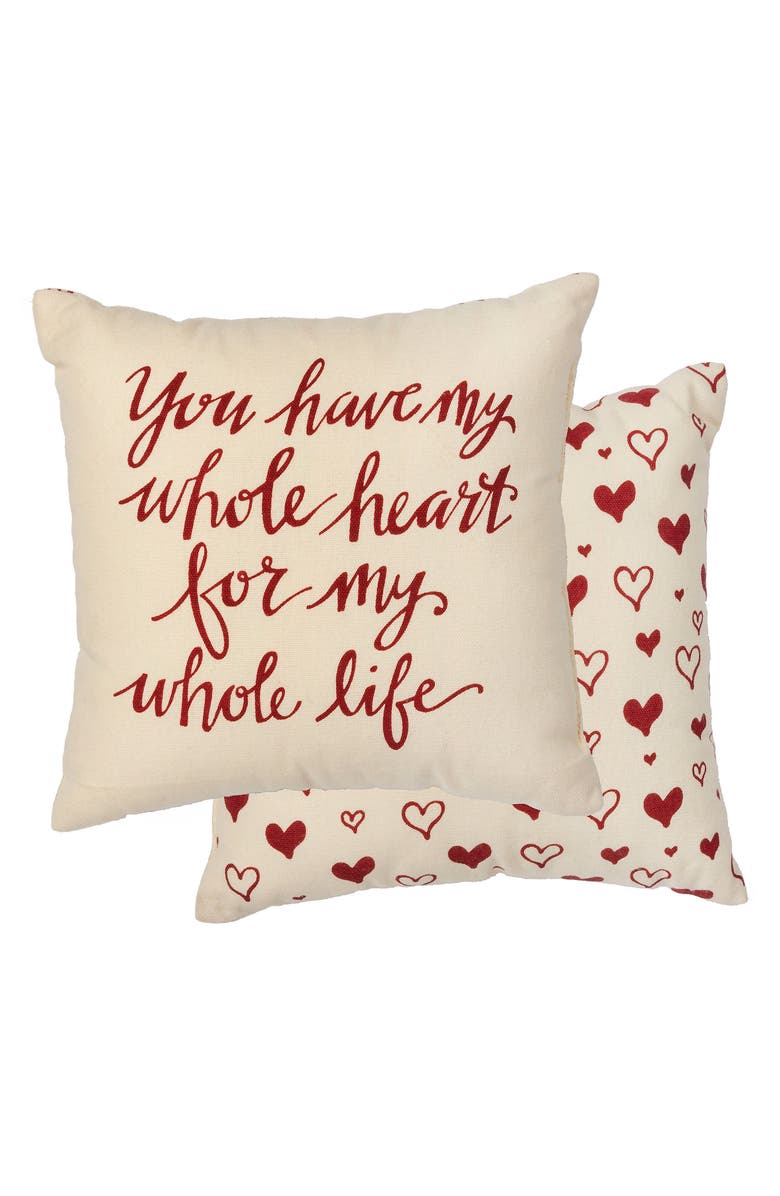 PRIMITIVES BY KATHY You Have My Whole Heart Accent Pillow, Main, color, 100