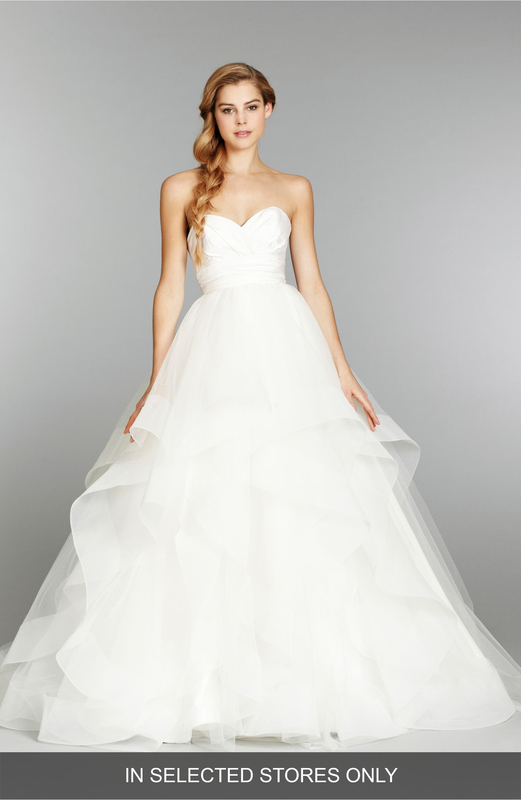 2be8da2dc47ee Hayley Paige 'Londyn' Silk & Tulle Ballgown (In Stores Only) | Nordstrom