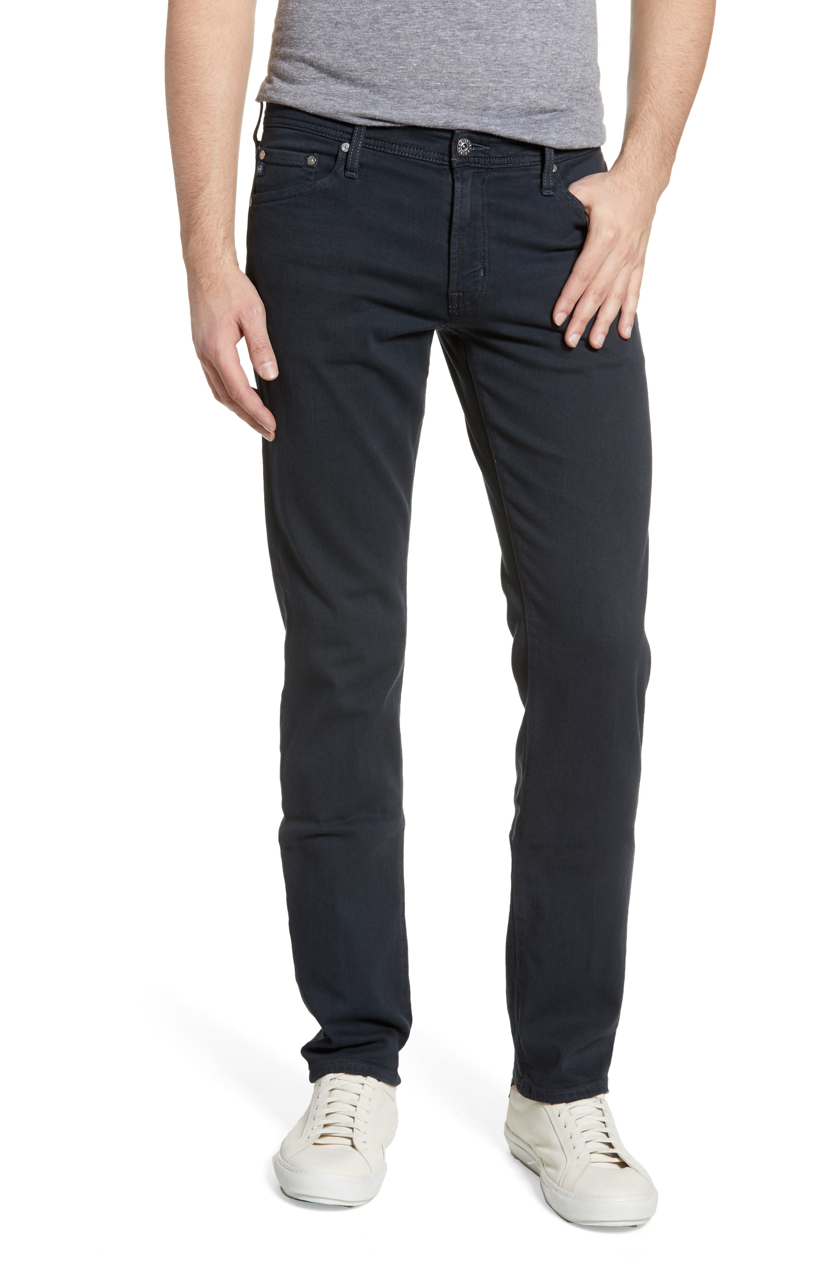 ,                             Graduate Slim Straight Leg Jeans,                             Main thumbnail 1, color,                             DARK MOTH