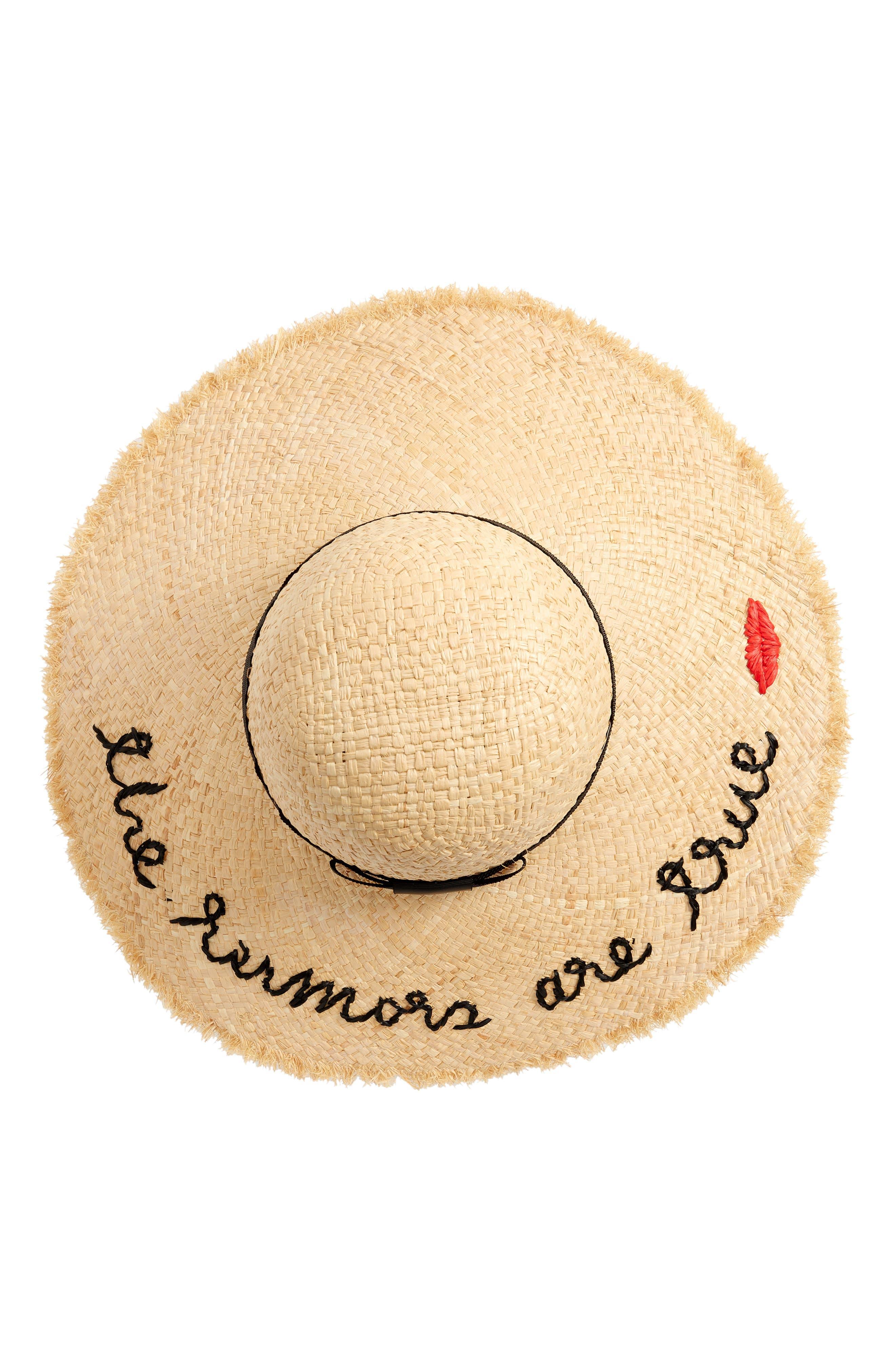 ,                             the rumors are true raffia hat,                             Alternate thumbnail 2, color,                             NATURAL