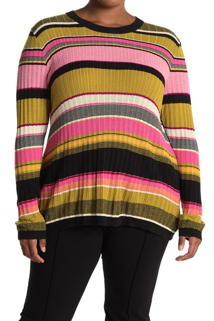 Image of Rachel Roy Kennedy Striped Pullover Sweater