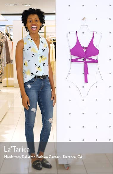 Color Code Twist Wrap Bikini Top, sales video thumbnail