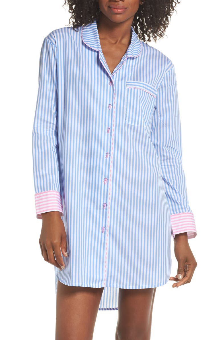 SANT AND ABEL Braddock Nightshirt, Main, color, BLUE