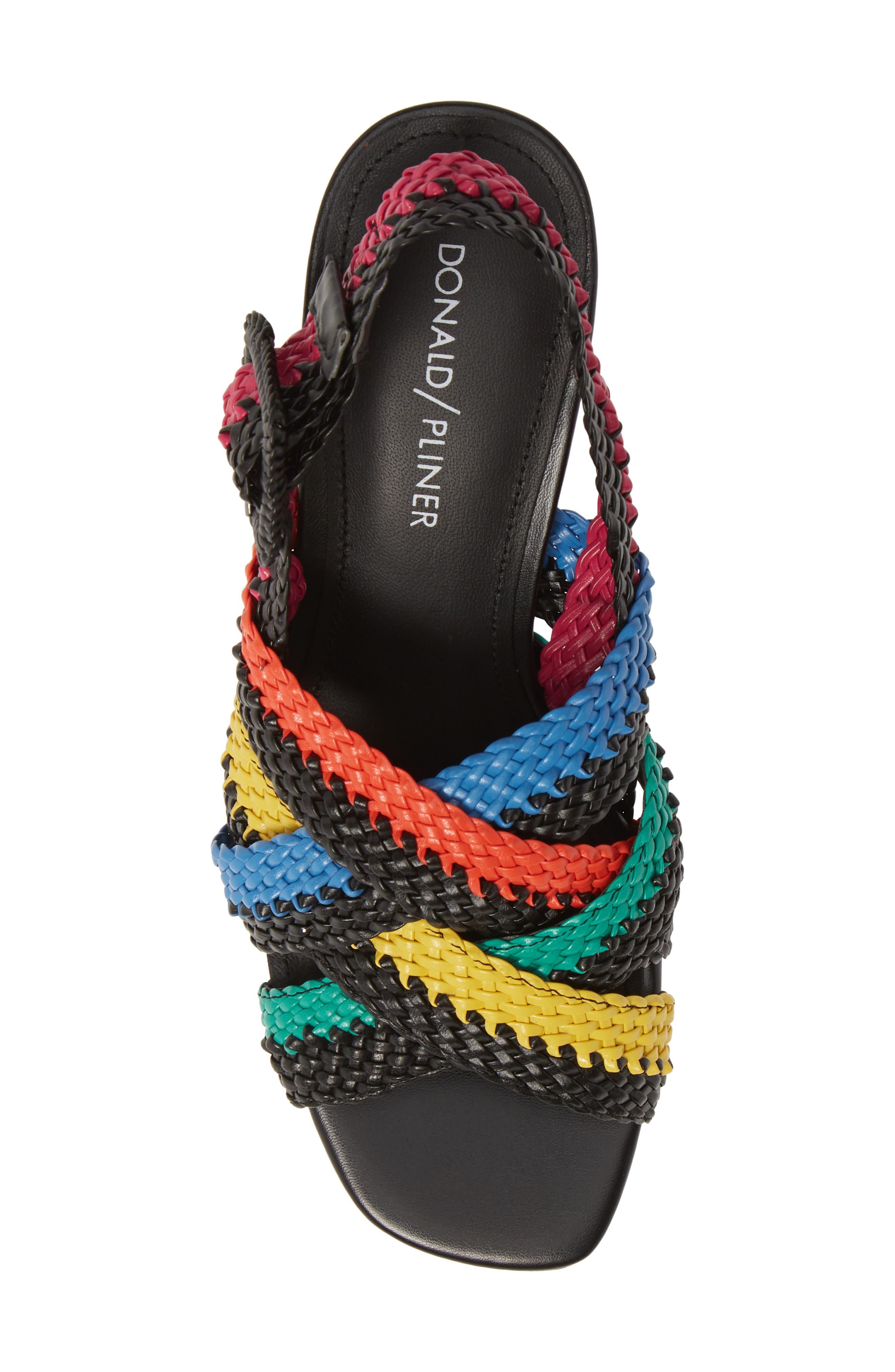,                             Vara Slingback Sandal,                             Alternate thumbnail 5, color,                             BLACK LEATHER