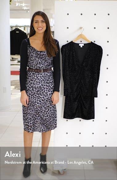 Animal Jacquard Long Sleeve Velvet Minidress, sales video thumbnail