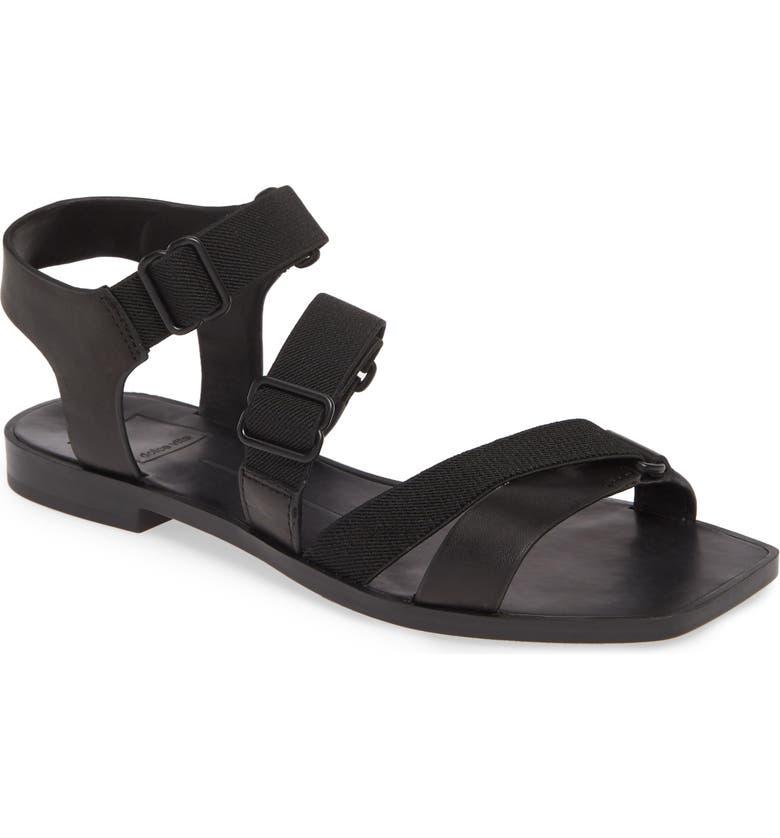 DOLCE VITA Indah Strappy Sport Sandal, Main, color, BLACK LEATHER
