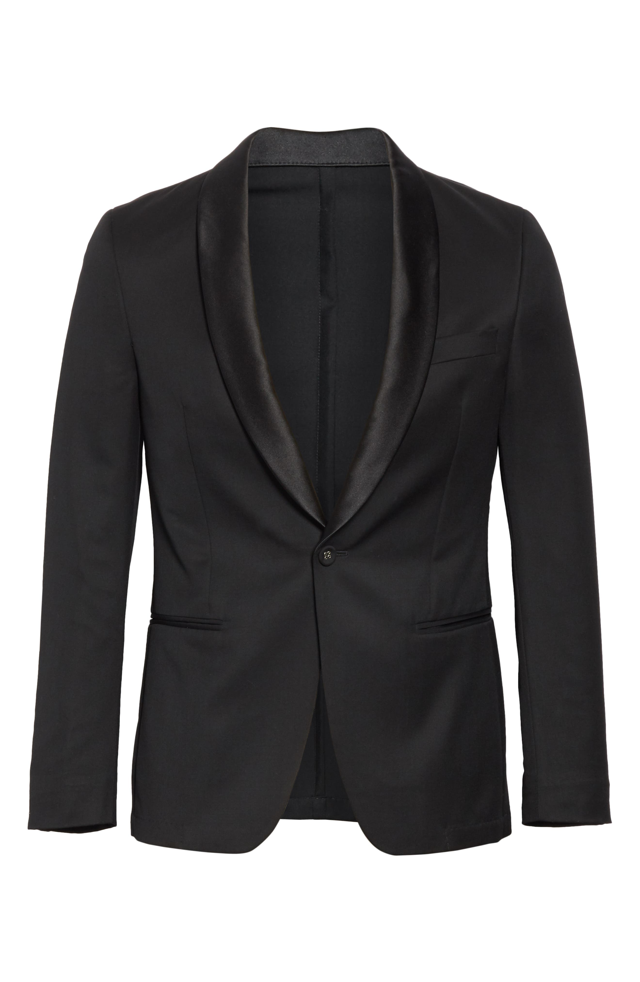 ,                             Wool Dinner Jacket,                             Alternate thumbnail 6, color,                             BLACK