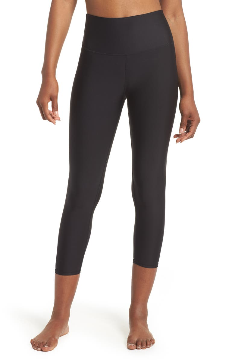 ALO Airlift High Waist Capris, Main, color, BLACK