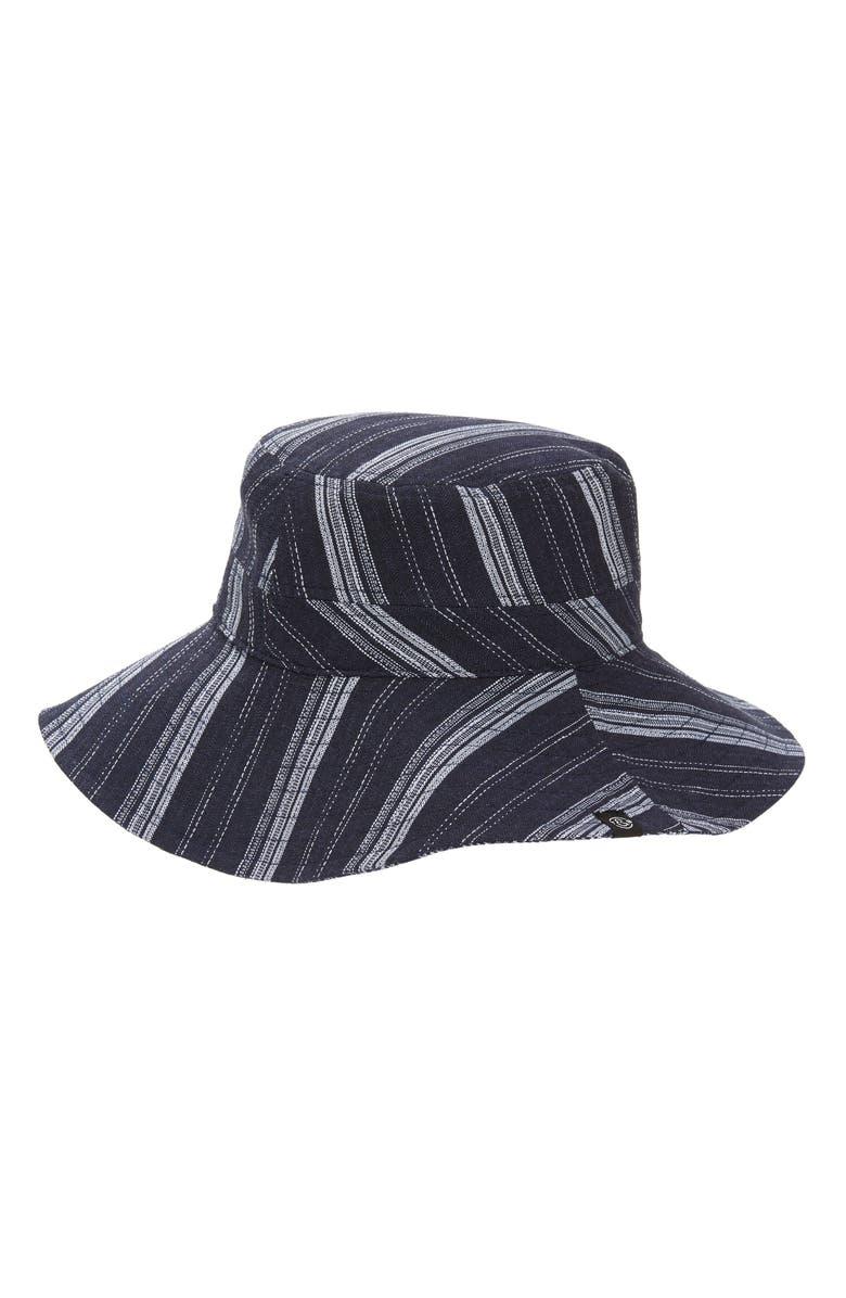 TREASURE & BOND Reversible Bucket Hat, Main, color, NAVY COMBO