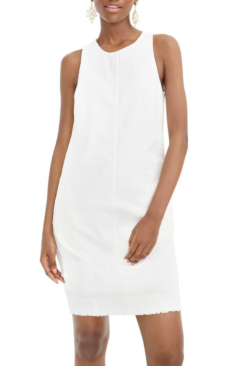J.CREW Denim Shift Dress, Main, color, 108