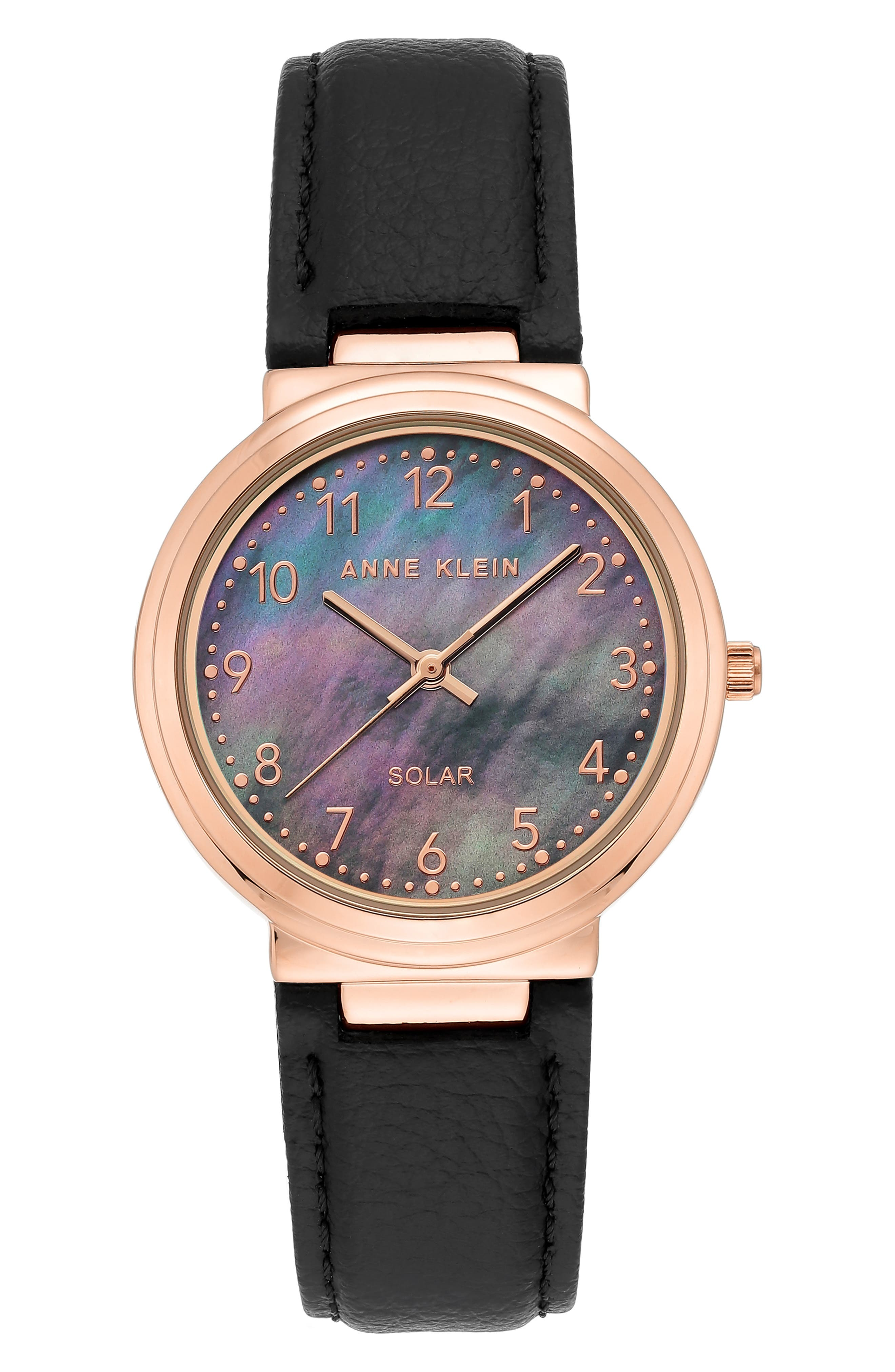 Solar Powered Leather Strap Watch