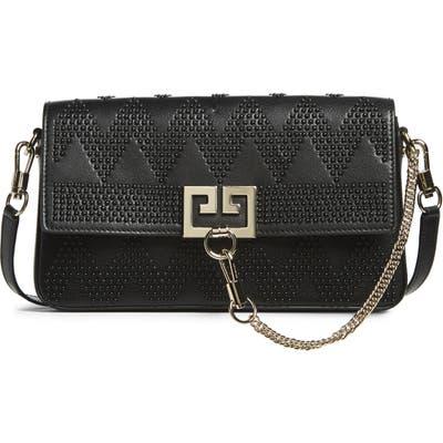 Givenchy Chevron Studded Leather Shoulder Bag - Black