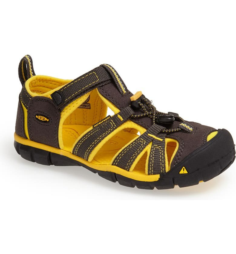 KEEN 'Seacamp II' Waterproof Sandal, Main, color, 001
