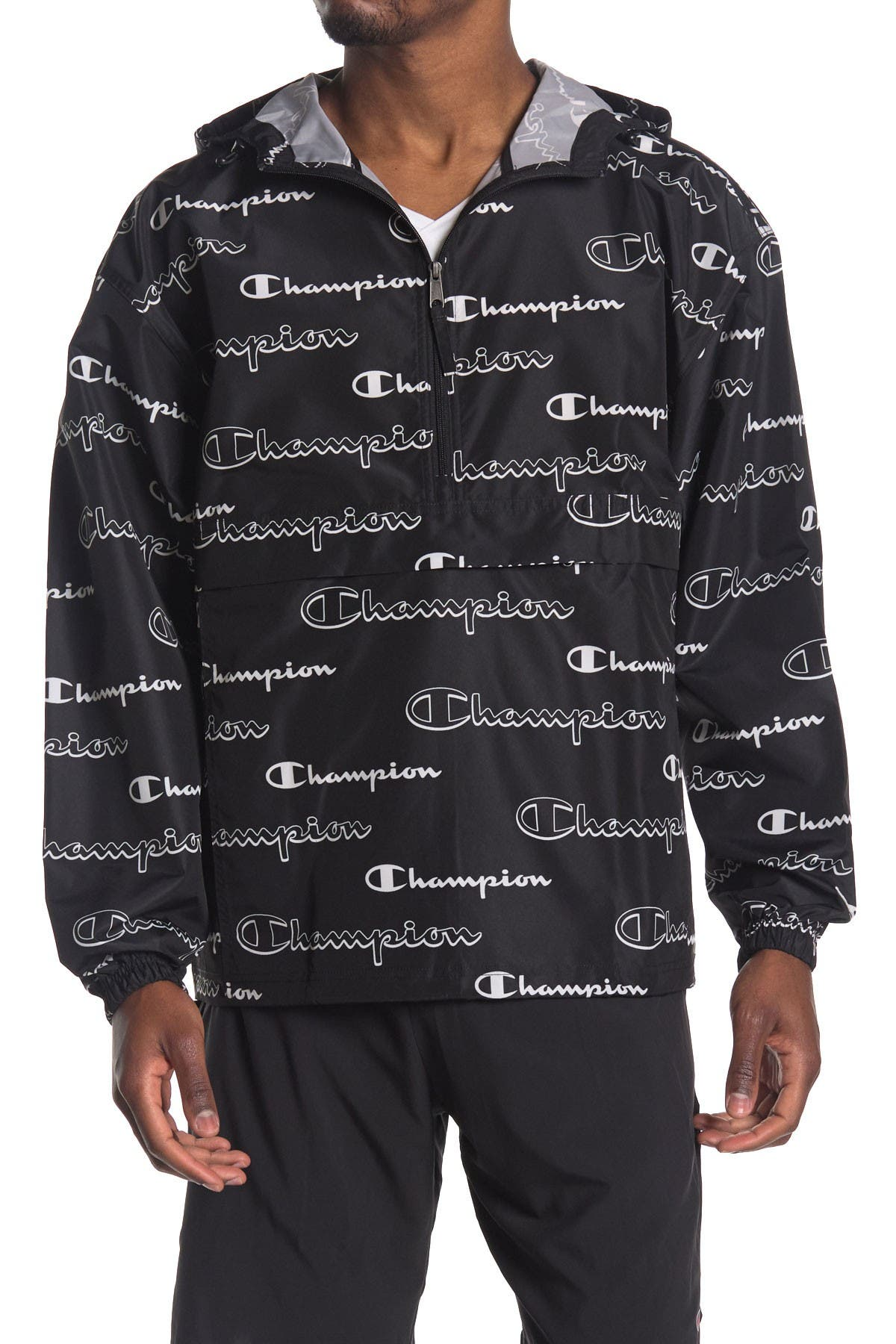 Image of Champion Printed Packable Half Zip Jacket