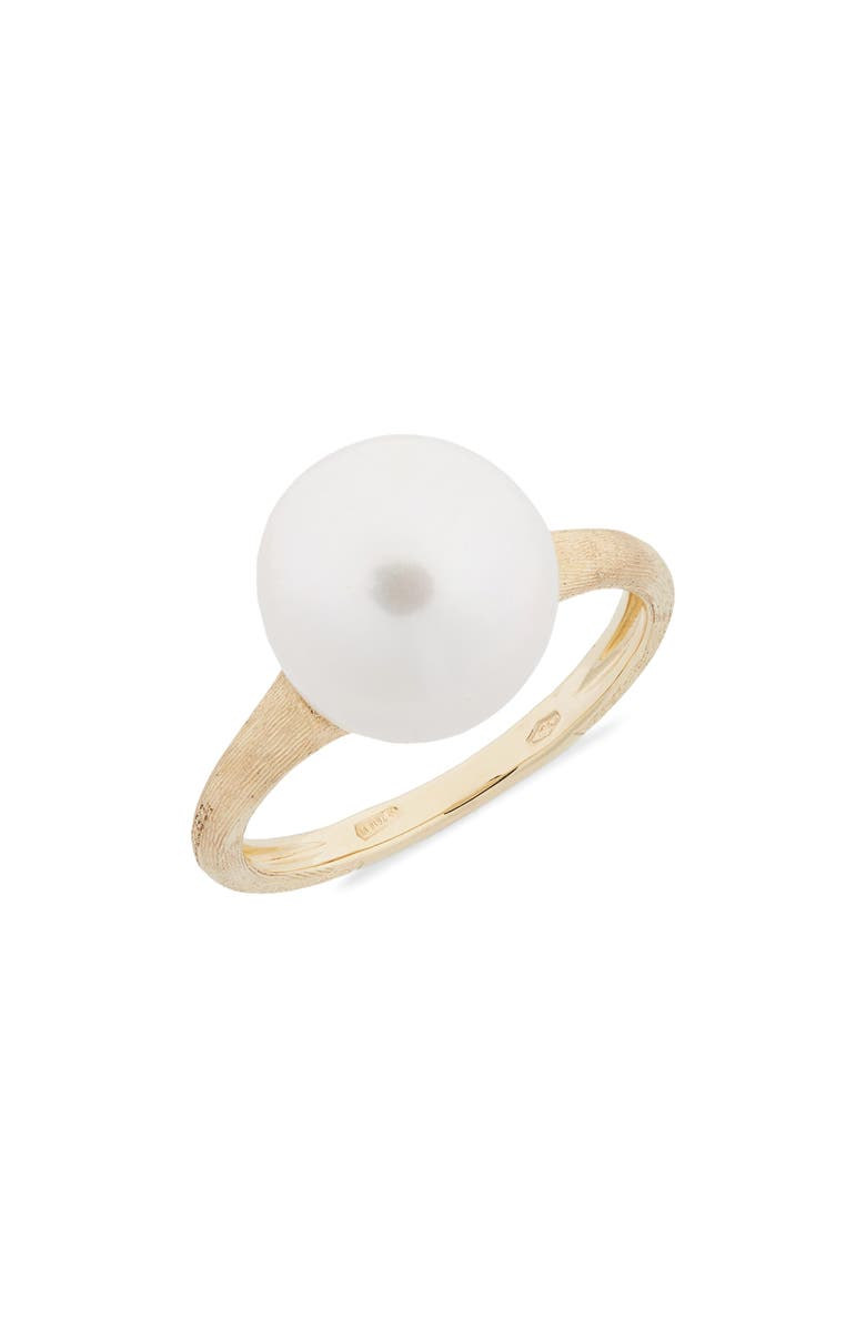 MARCO BICEGO Africa Boule Semiprecious Stone Ring, Main, color, PEARL/ YELLOW GOLD