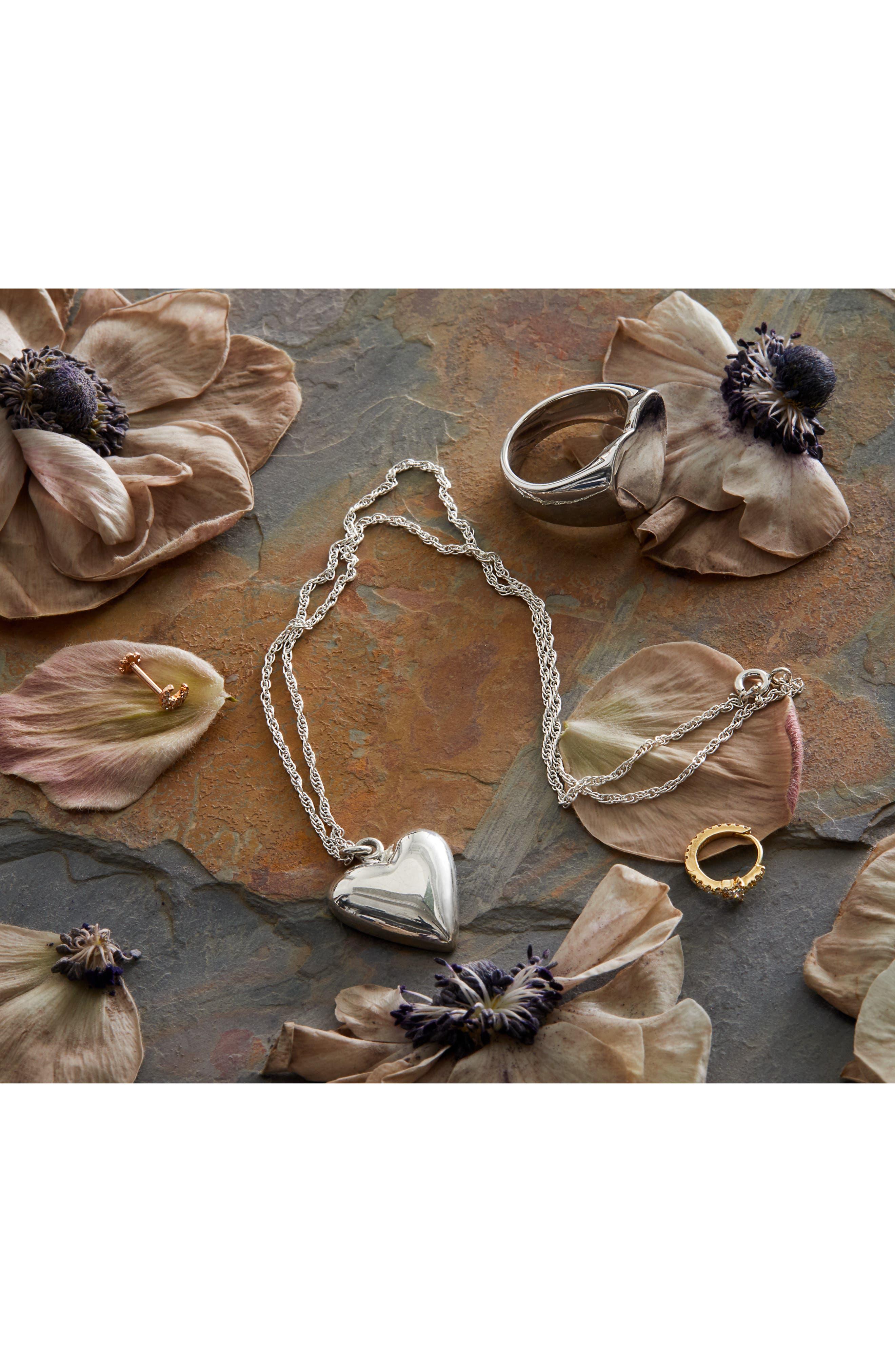 ,                             Petite Heart Pendant Necklace,                             Alternate thumbnail 2, color,                             STERLING SILVER