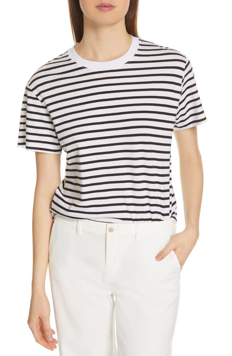 ATM ANTHONY THOMAS MELILLO Stripe Boy Tee, Main, color, BLACK/ WHITE STRIPE