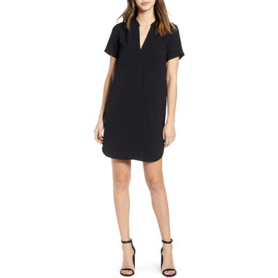 All In Favor Hailey Crepe Dress, Black
