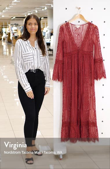 Bell Sleeve Lace Duster, sales video thumbnail