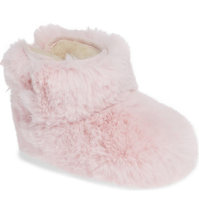 UGG<SUP>®</SUP> Jesse Bow Fluff Bootie, Main, color, PINK