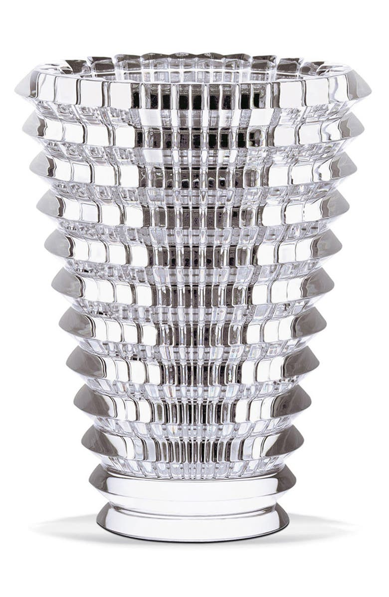BACCARAT Large Round Eye Lead Crystal Vase, Main, color, CLEAR