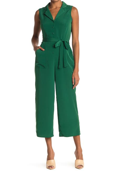 Image of London Times Collared Crop Jumpsuit