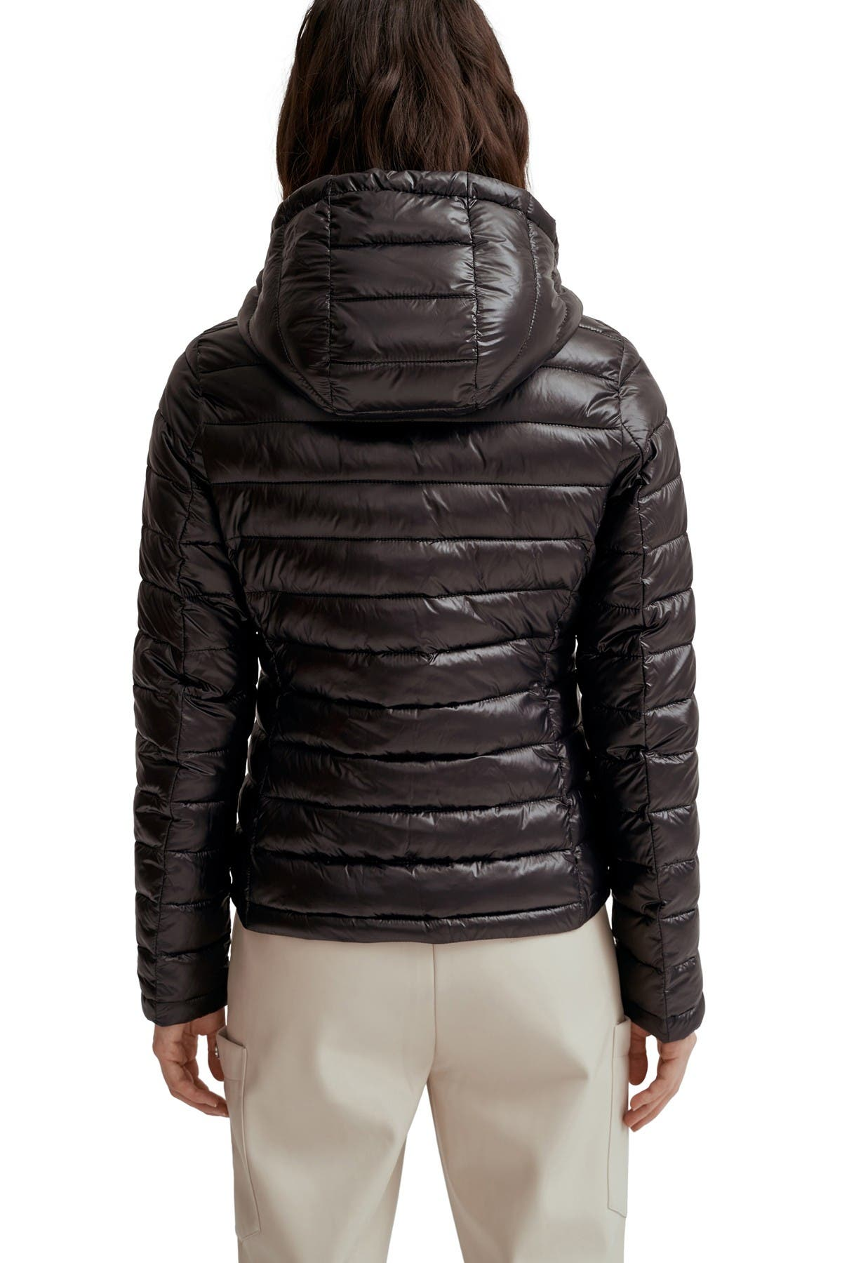 Image of NOIZE Skylar Quilted Ultra Lightweight Hooded Jacket