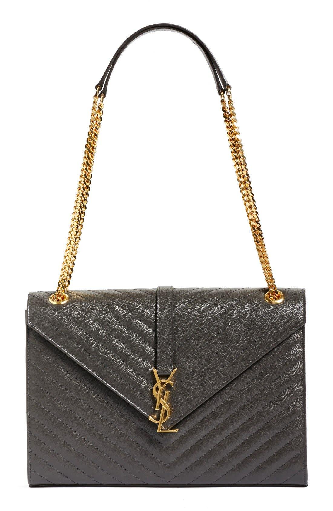 ,                             'Large Monogram' Grained Leather Shoulder Bag,                             Main thumbnail 19, color,                             021