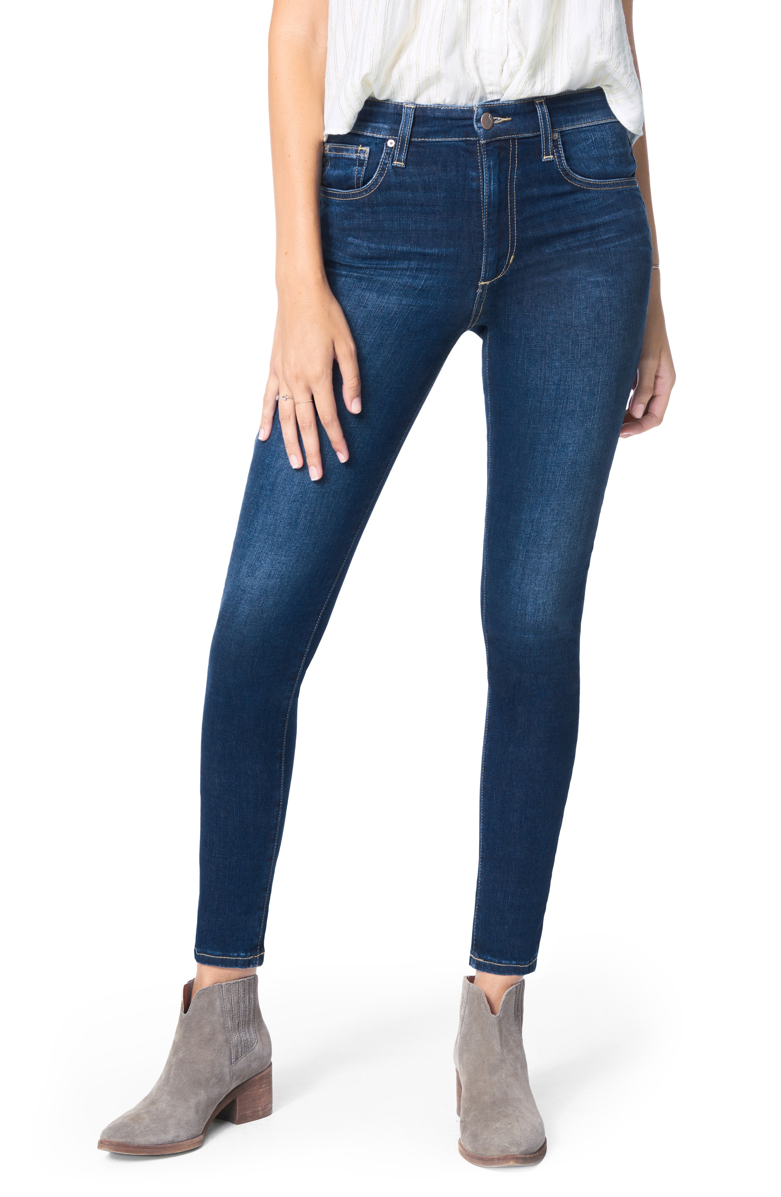 A classic medium wash makes these high-waisted skinny jeans sleek go-tos for any day of the week. Style Name: Joe\\\'s The Charlie High Waist Ankle Skinny Jeans (Ennio). Style Number: 5973580. Available in stores.