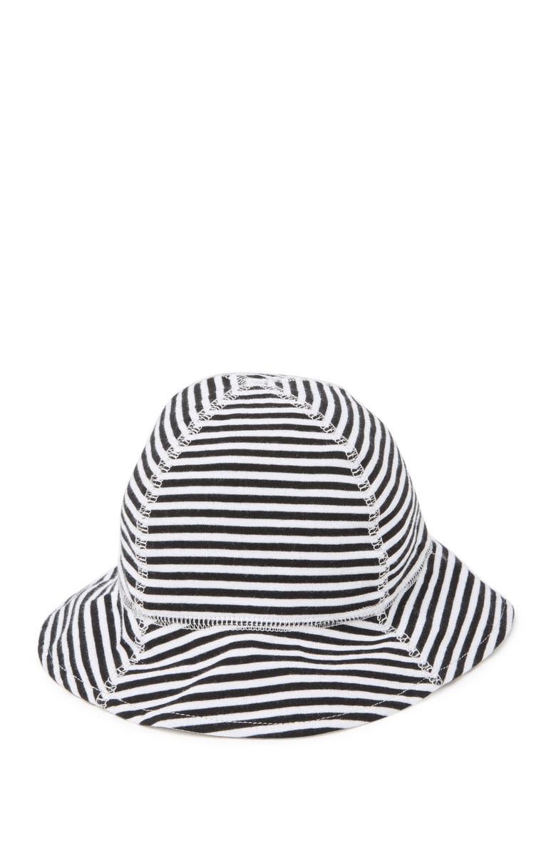 SAN DIEGO HAT Infant Striped Bucket Sun Hat, Main, color, BLACK