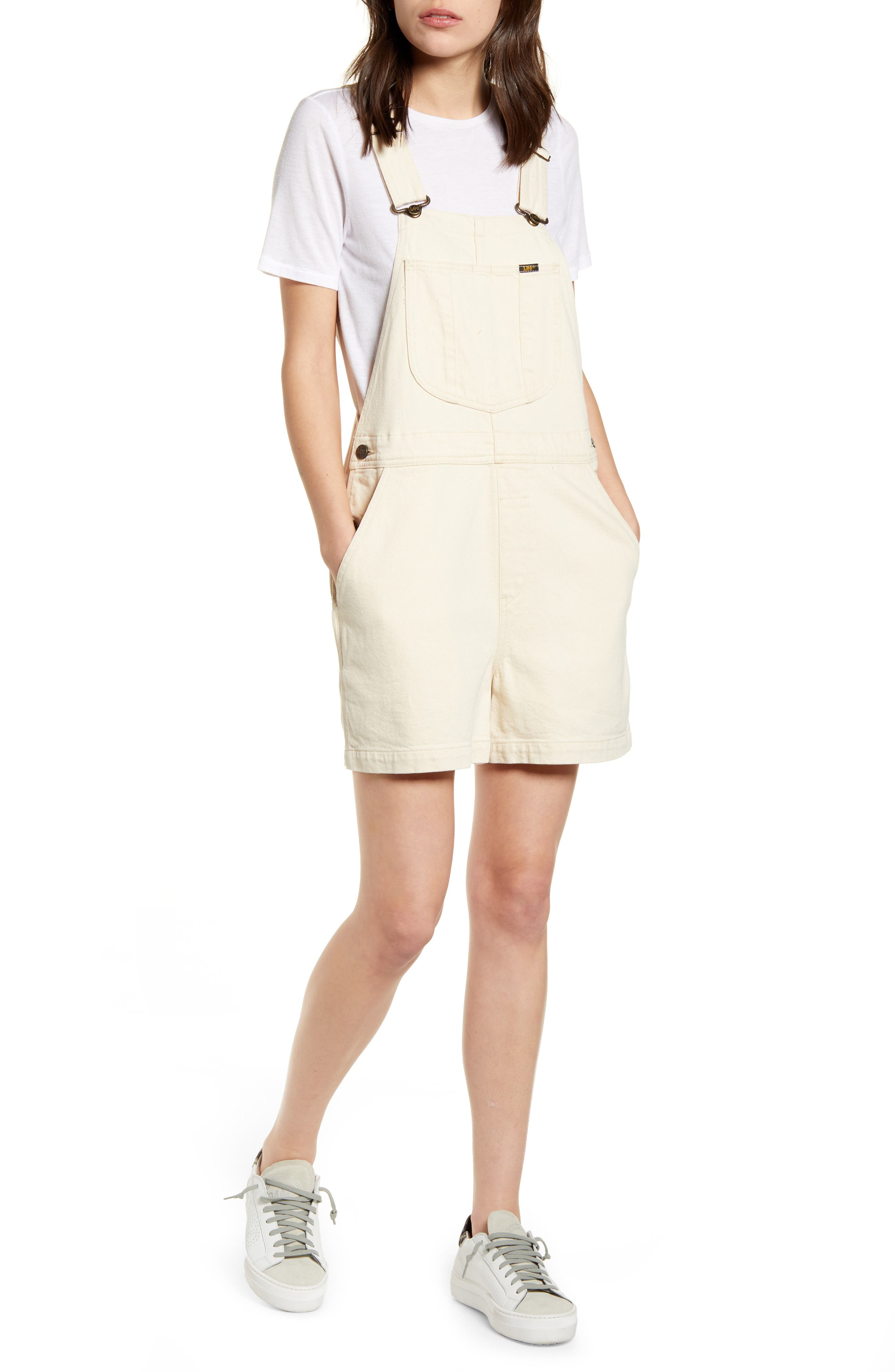 Relaxed Fit Denim Short Overalls