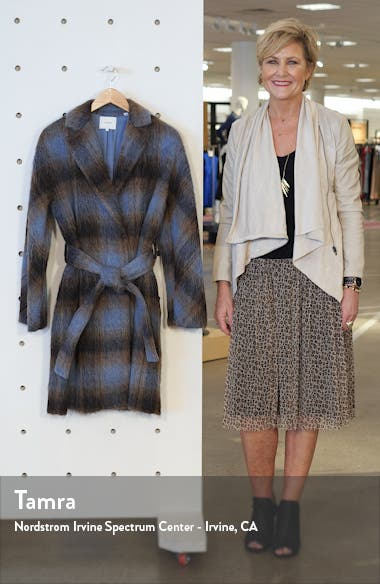 Plaid Belted Wool & Alpaca Blend Coat, sales video thumbnail