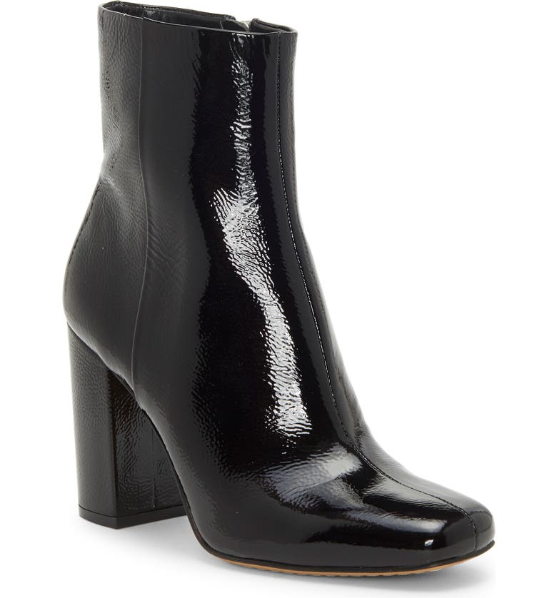 VINCE CAMUTO Dannia Bootie, Main, color, BLACK PATENT LEATHER
