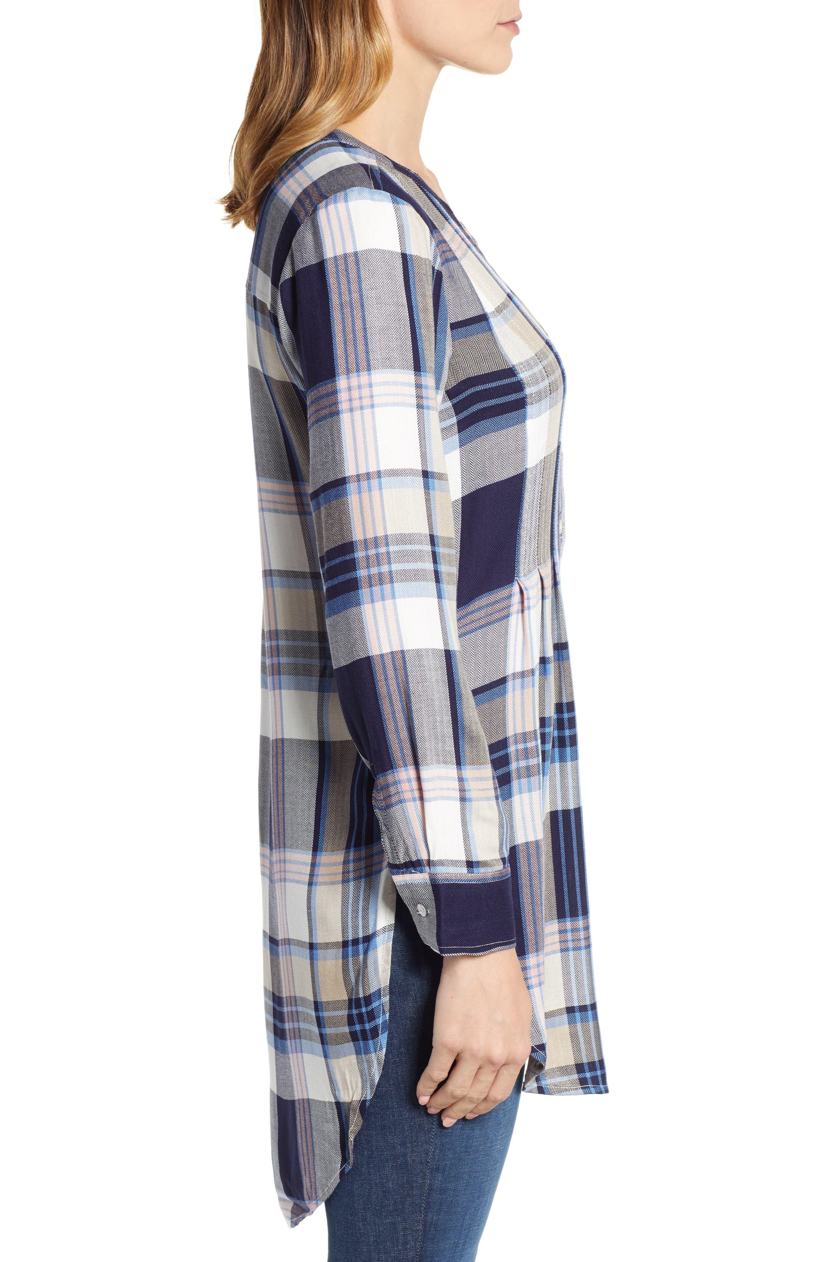 ,                             Release Pleat Tunic Shirt,                             Alternate thumbnail 3, color,                             401
