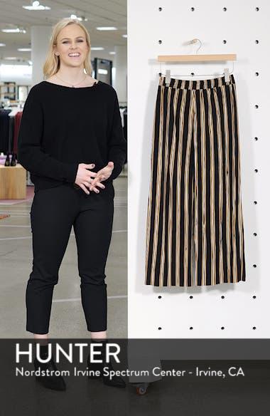 Stripe Plissé Crop Trousers, sales video thumbnail