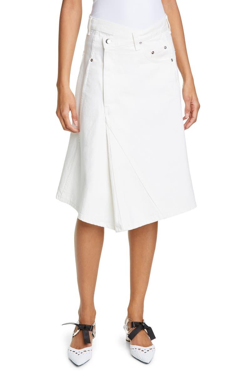 PROENZA SCHOULER Reworked Denim Skirt, Main, color, 101