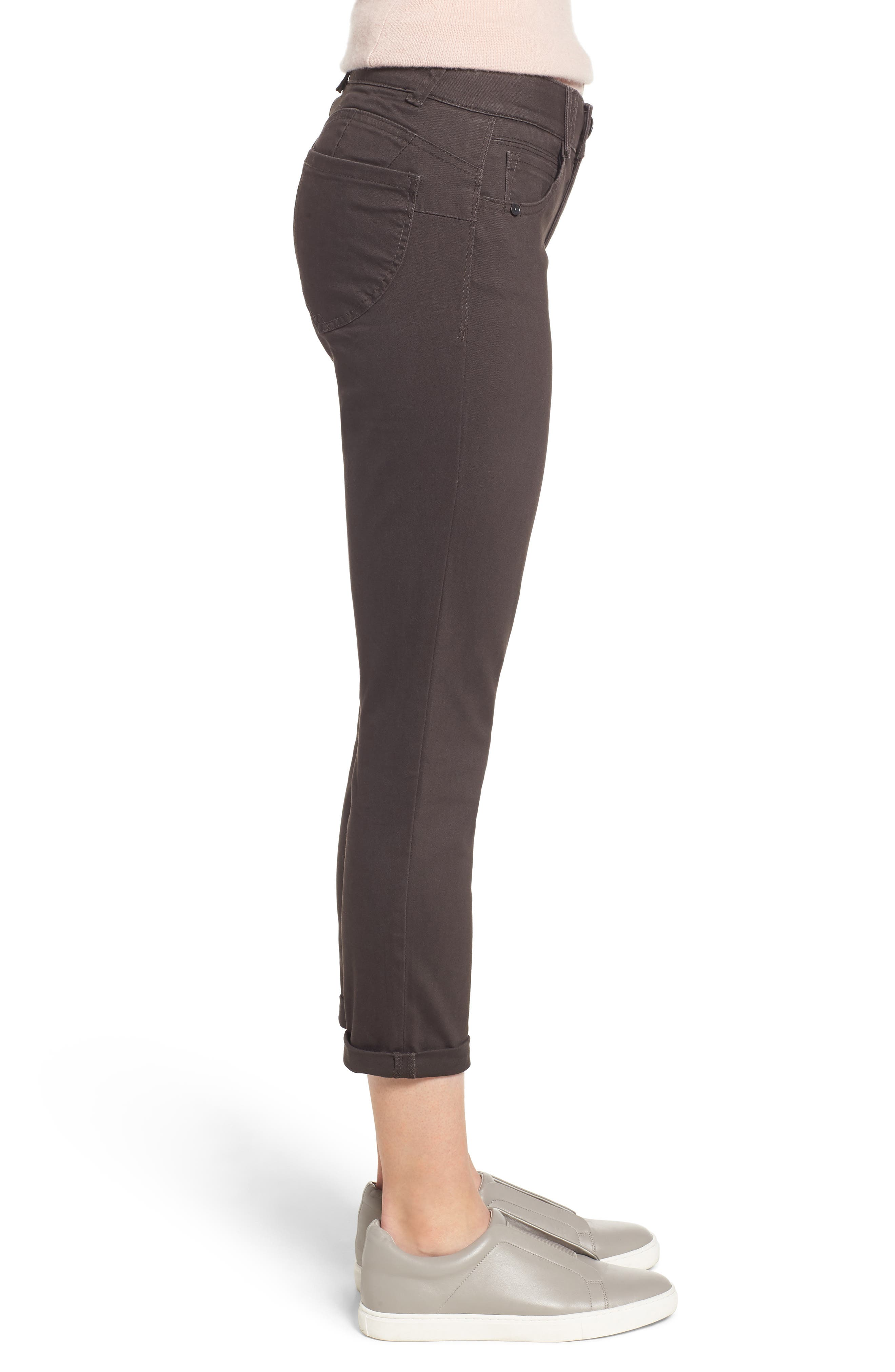 ,                             Ab-Solution Crop Skinny Pants,                             Alternate thumbnail 4, color,                             ESPRESSO