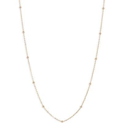 Bony Levy 14K Gold Ball Bead Chain Necklace (Nordstrom Exclusive)