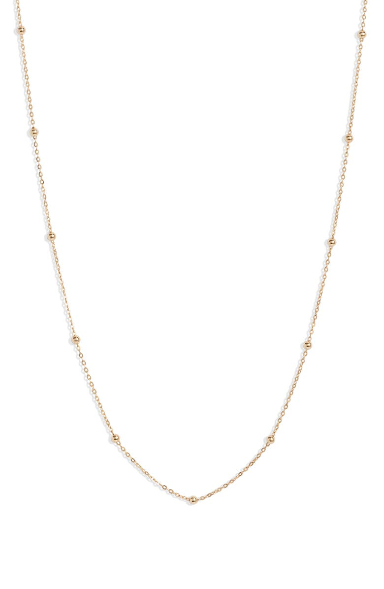 BONY LEVY 14K Gold Ball Bead Chain Necklace, Main, color, YELLOW GOLD