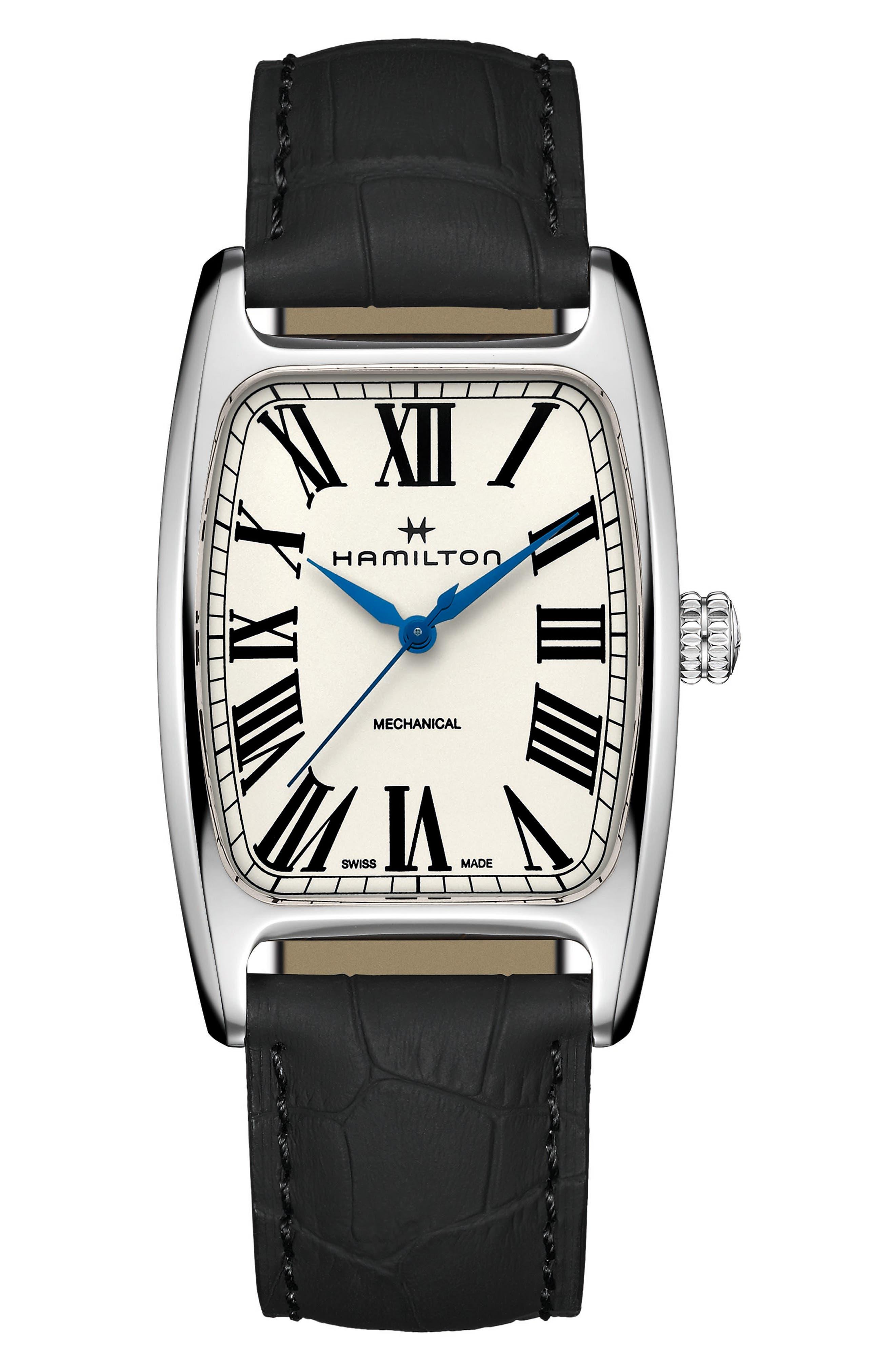 American Boulton Leather Strap Watch