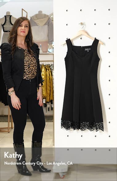Lace Trim Sweetheart Neck Fit & Flare Dress, sales video thumbnail