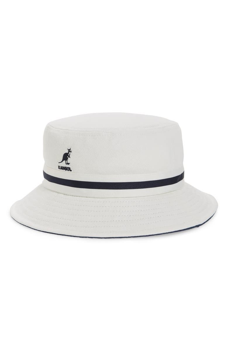 KANGOL Lahinch Stripe Ribbon Bucket Hat, Main, color, 103