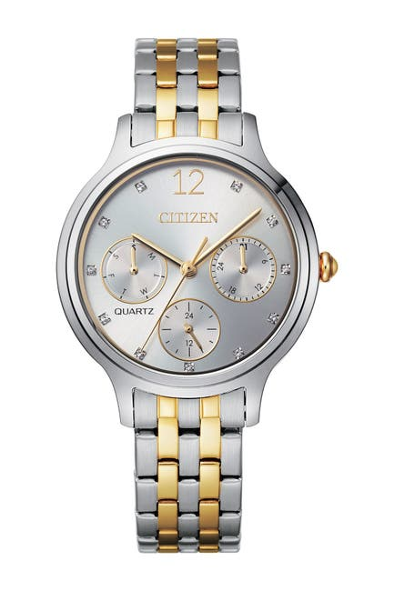 Image of Citizen Women's Quartz Two Tone Stainless Steel Bracelet Watch, 33mm