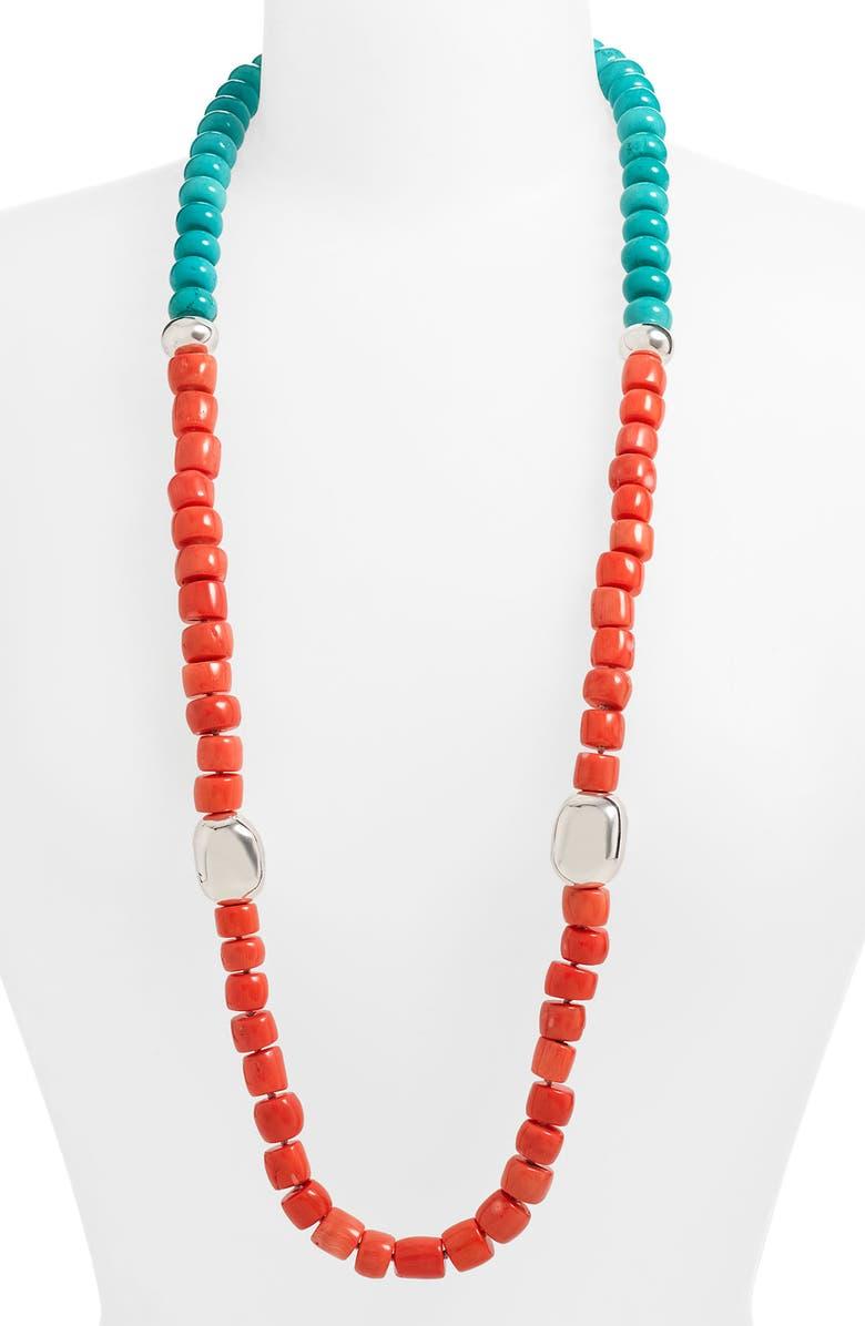 SIMON SEBBAG Long Colorblock Stone Necklace, Main, color, 950