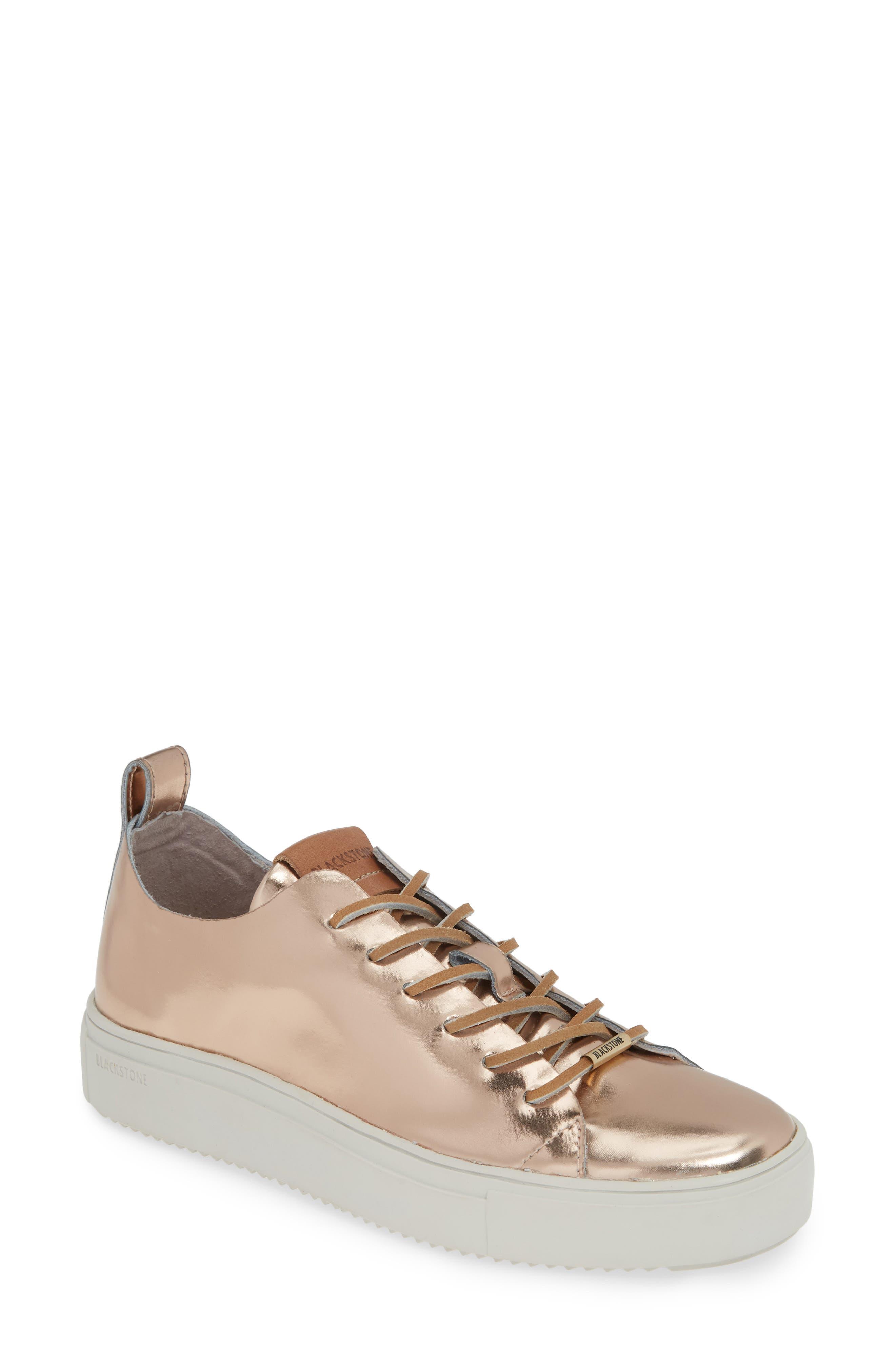 Blackstone Rl69 Metallic Mid Top Sneaker, Pink